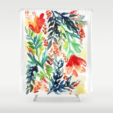flora shower curtains | society6