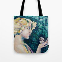sparrow Tote Bags featuring Sparrow by Kristina Gufo