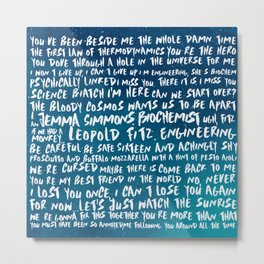 FitzSimmons Phrases in Colours/2 Metal Print