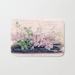 Lilac Stack* Bath Mat