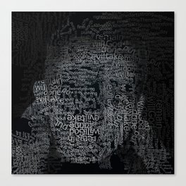Words and thoughts Canvas Print