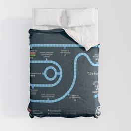 Tomorrowland Transit Authority Map Comforters