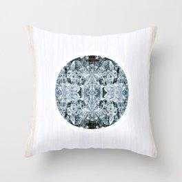 Symmetrical Iceberg Planet Throw Pillow