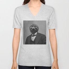 Gentleman Sloth 12 Unisex V-Neck