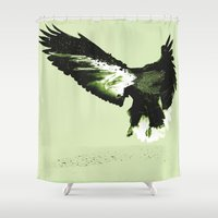 eagle Shower Curtains featuring Eagle by Yaroslav Greb
