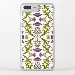 Wild Thistle Meadow Clear iPhone Case