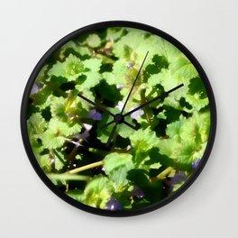 Ground Ivy 07 Wall Clock