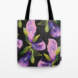 Embroidered callas Tote Bag
