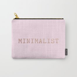 Pink and Copper Minimalist Typewriter Font Carry-All Pouch