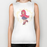 red riding hood Biker Tanks featuring Little Red Riding Hood by Gunkiss