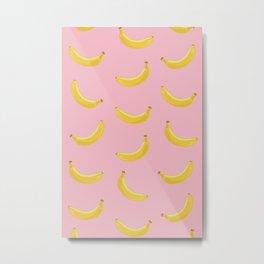 Banana in pink Metal Print