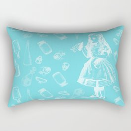 Alice in Wonderland and Jars Rectangular Pillow