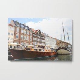 Boating Along Nyhavn Metal Print