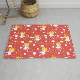 Tooth Fairy Red  Rug