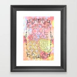 Fruit of the Spirit Framed Art Print