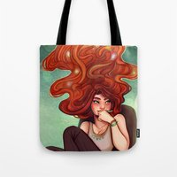 creativity Tote Bags featuring Creativity by Cyarin