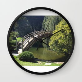 Bridge Over Non-Troubled Waters Wall Clock