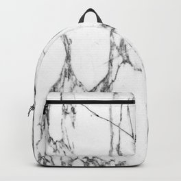 Classic White Marble #1 #decor #art #society6 Backpack