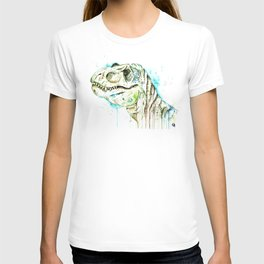 T-Rex - Tom the T-rex Colorful Watercolor Painting T-shirt