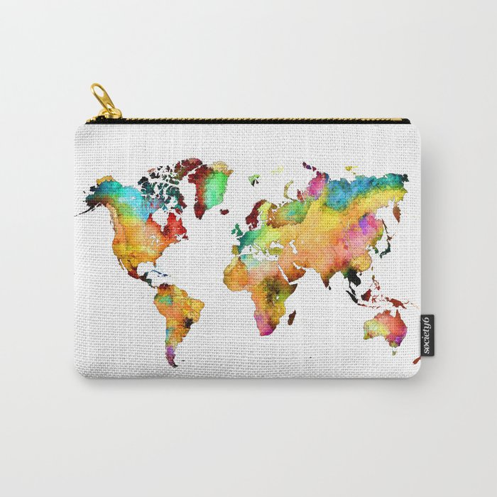 world map 71 Carry-All Pouch