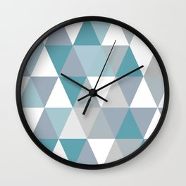 Rombi light blue Wall Clock