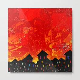 Orange Sky Metal Print