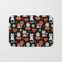 Halloween Kitties (Black) Bath Mat