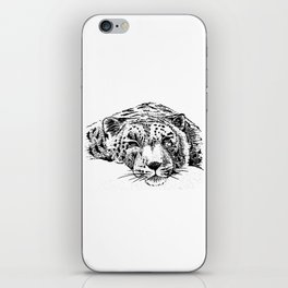 Chilling Leopard iPhone Skin