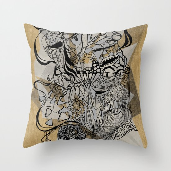 Life of Lines Throw Pillow