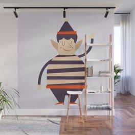 Santa's elf says HI Wall Mural