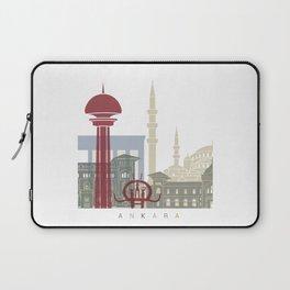 Ankara skyline poster Laptop Sleeve