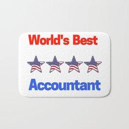 World's Best Accountant Bath Mat