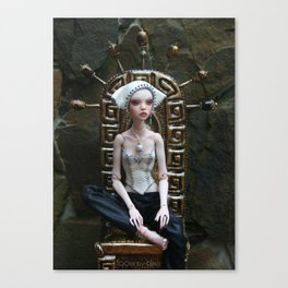 OOla on her throne Canvas Print
