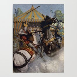 Knights jousting Poster