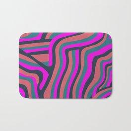 psychedelic zebra Bath Mat