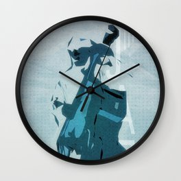 Jazzy Poster Wall Clock