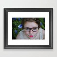 Bluebonnets and Pink Lipstick.  Framed Art Print