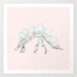 Pastel Stegasaurus Art Print