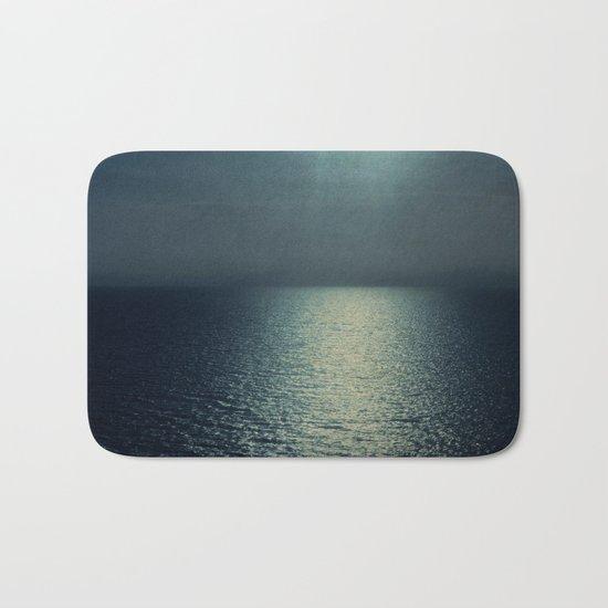 sea - sunset blue Bath Mat