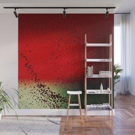 Black Flicks of Paint Wall Mural