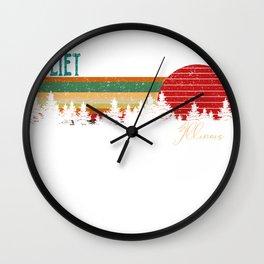 joliet Illinois Retro Vintage Custom Funny 80s 90s Wall Clock