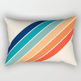 Karanda - 70s Style Classic Retro Stripes Rectangular Pillow