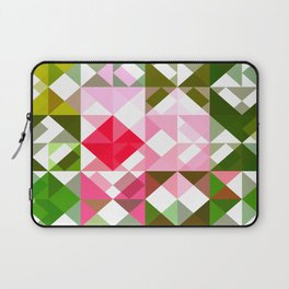 Pink Roses in Anzures 4 Abstract Triangles 1 Laptop Sleeve