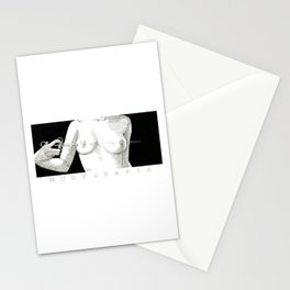 Needle and boobs Stationery Cards