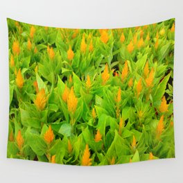 Field of Celosia Wall Tapestry
