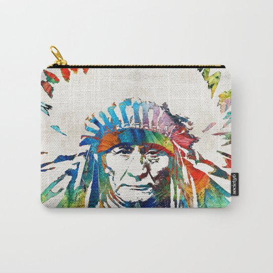 Native American Art - Chief - By Sharon Cummings Carry-All Pouch