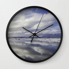 Jokulsarlon Lagoon Beach 13  Wall Clock