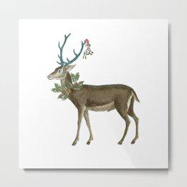 Artsy Christmas reindeer Metal Print