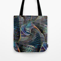architect Tote Bags featuring the delusional architect by David  Gough