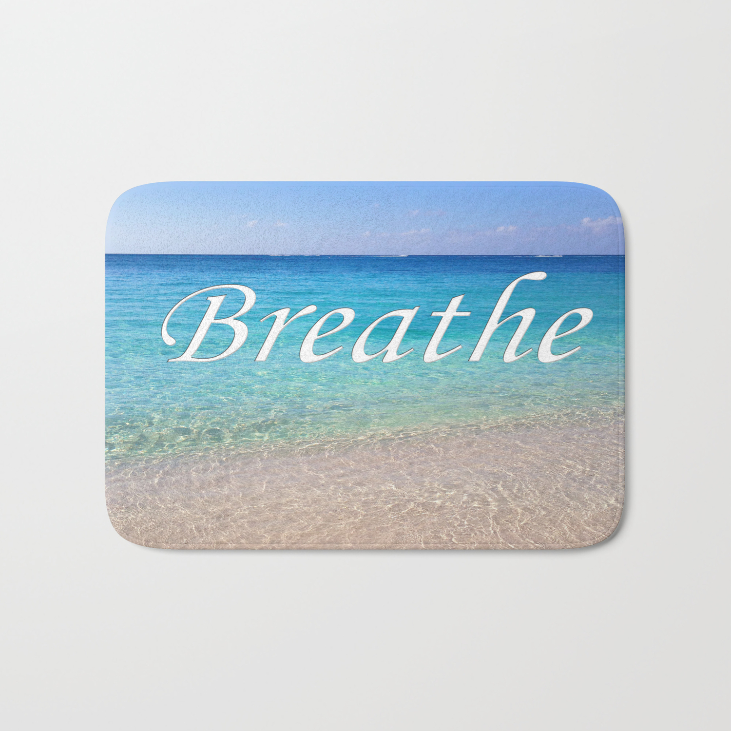 Breathe Cayman Relaxing Beach Waves Bath Mat